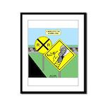 rail road crossing Framed Panel Print