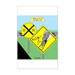 rail road crossing Mini Poster Print