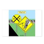 rail road crossing Postcards (Package of 8)