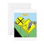 rail road crossing Greeting Cards (Pk of 10)