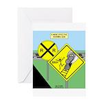 rail road crossing Greeting Card