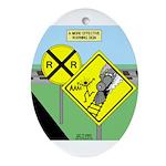 rail road crossing Ornament (Oval)