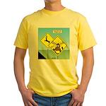 Deer Crossing Yellow T-Shirt