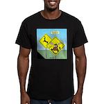 Deer Crossing Men's Fitted T-Shirt (dark)