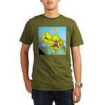 Deer Crossing Organic Men's T-Shirt (dark)