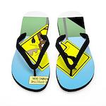 Deer Crossing Flip Flops