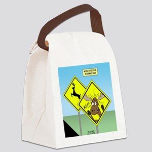 Deer Crossing Canvas Lunch Bag