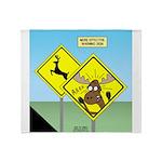 Deer Crossing Throw Blanket