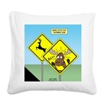 Deer Crossing Square Canvas Pillow