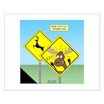 Deer Crossing Small Poster