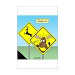 Deer Crossing Mini Poster Print
