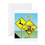 Deer Crossing Greeting Cards (Pk of 10)