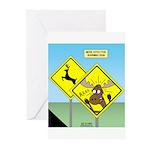 Deer Crossing Greeting Cards (Pk of 20)