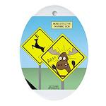 Deer Crossing Ornament (Oval)