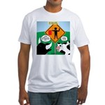Bullfighter Warning Fitted T-Shirt