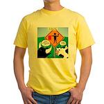 Bullfighter Warning Yellow T-Shirt