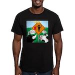 Bullfighter Warning Men's Fitted T-Shirt (dark)