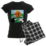 Bullfighter Warning Women's Dark Pajamas