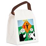 Bullfighter Warning Canvas Lunch Bag