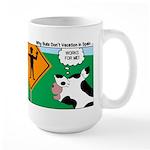 Bullfighter Warning Large Mug
