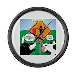 Bullfighter Warning Large Wall Clock
