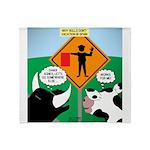 Bullfighter Warning Throw Blanket