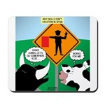Bullfighter Warning Mousepad