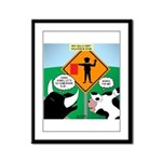 Bullfighter Warning Framed Panel Print