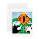 Bullfighter Warning Greeting Card