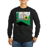 Math Warning Long Sleeve Dark T-Shirt