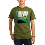 Math Warning Organic Men's T-Shirt (dark)