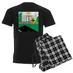 Math Warning Men's Dark Pajamas