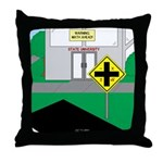 Math Warning Throw Pillow