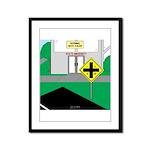 Math Warning Framed Panel Print