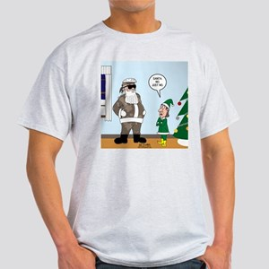 Santa in Camouflage Light T-Shirt