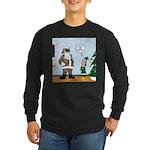 Santa in Camouflage Long Sleeve Dark T-Shirt
