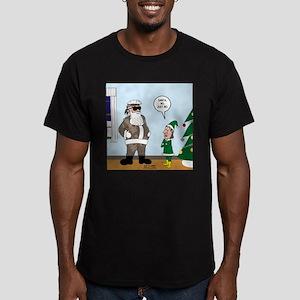 Santa in Camouflage Men's Fitted T-Shirt (dark)
