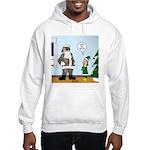 Santa in Camouflage Hooded Sweatshirt