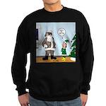 Santa in Camouflage Sweatshirt (dark)