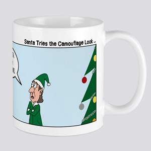 Santa in Camouflage Mug