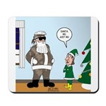 Santa in Camouflage Mousepad