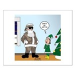 Santa in Camouflage Small Poster