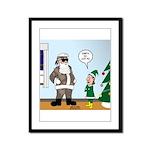 Santa in Camouflage Framed Panel Print