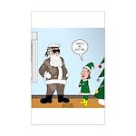 Santa in Camouflage Mini Poster Print