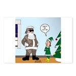 Santa in Camouflage Postcards (Package of 8)