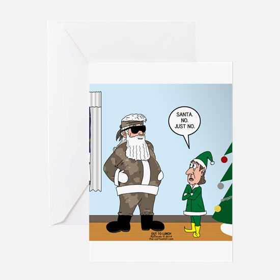 Duck dynasty greeting cards cafepress santa in camouflage greeting card bookmarktalkfo Choice Image