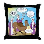 Wisemen Camel Problem Throw Pillow