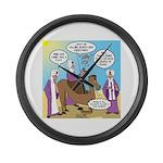 Wisemen Camel Problem Large Wall Clock