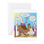 Wisemen Camel Problem Greeting Cards (Pk of 10)
