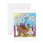 Wisemen Camel Problem Greeting Card